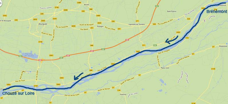 Location de canoe pour une descente de Bréhémont à Chouzé