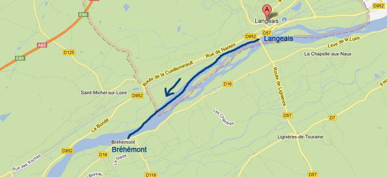 Location canoe pour la descente Langeais Bréhémont
