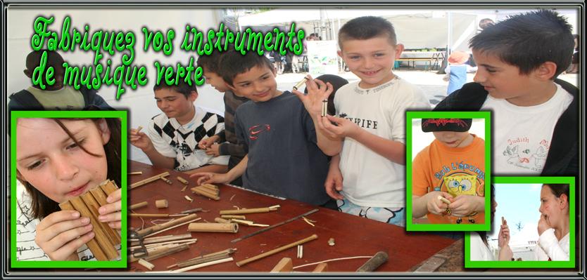 Fabriquez vos instruments de musique verte